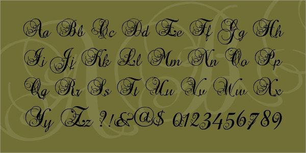 precious decorative font