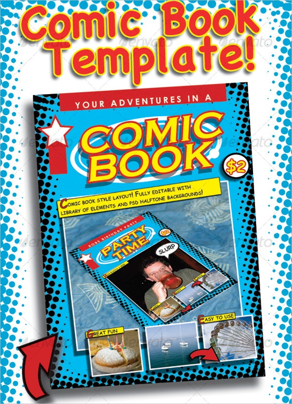Blank Comic Book Cover Template : Comic book templates psd vector eps free