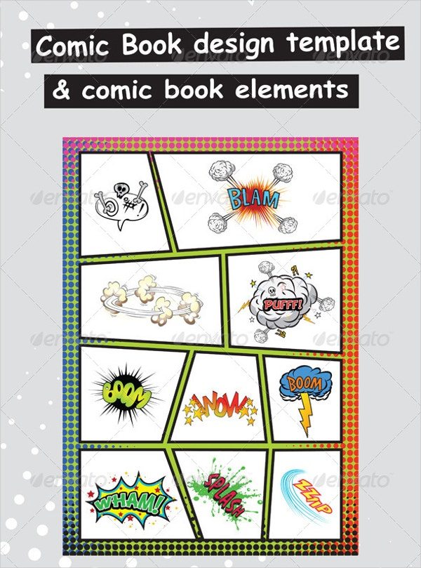 comic book paper elements template