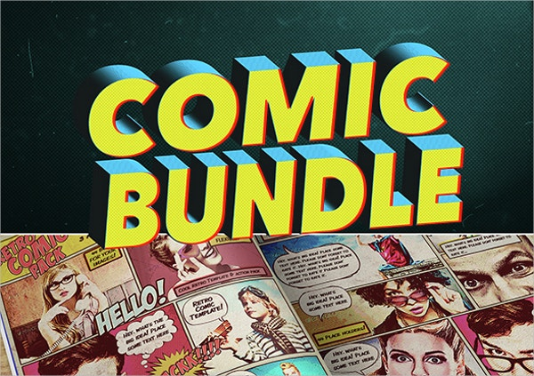 comic book bundle template