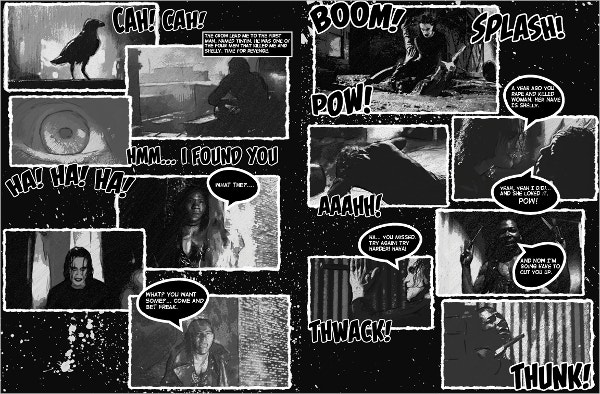 crow comic book template
