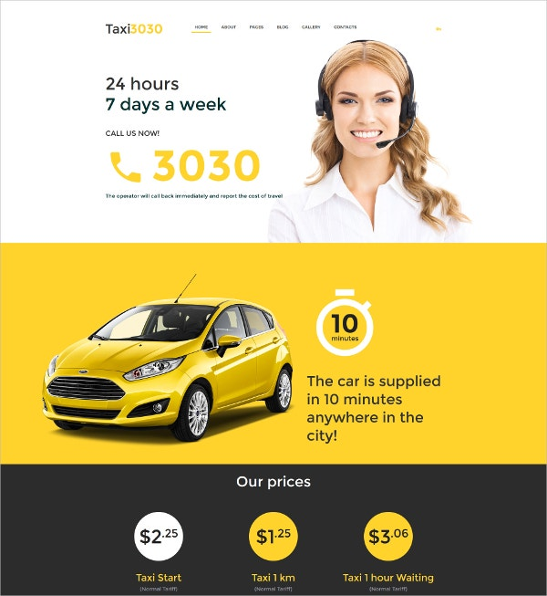 Taxi Car Blog Joomla Template $75
