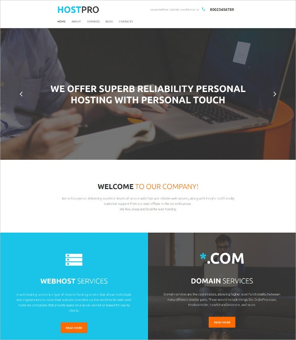 personal blog moto cms template 119