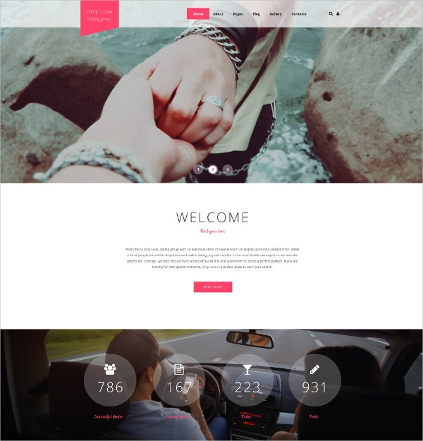 Love & Dating Blog Joomla Template $75