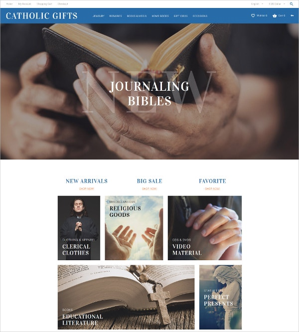 Religious OpenCart Blog Template $89