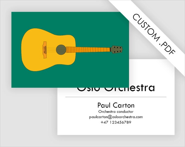 Guitar Business Card Template