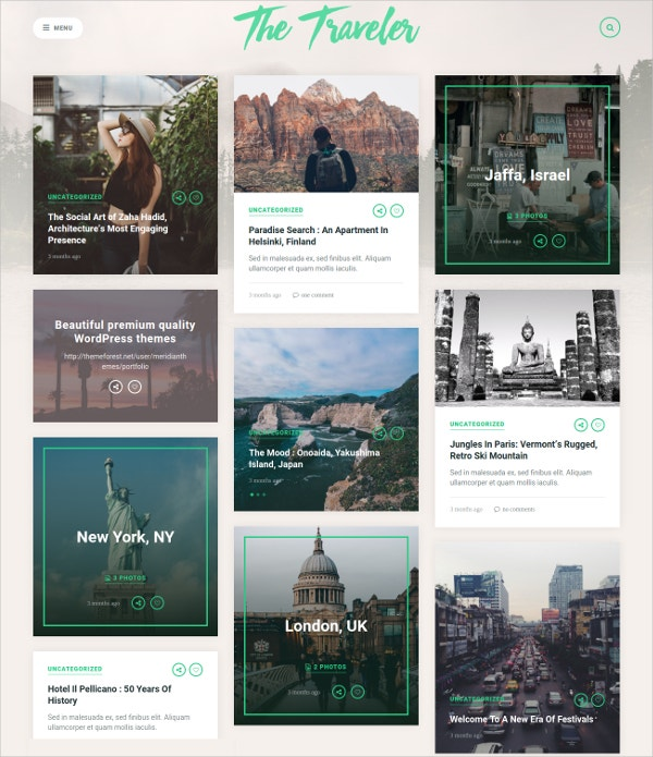 premium wordpress blog for travellers 49