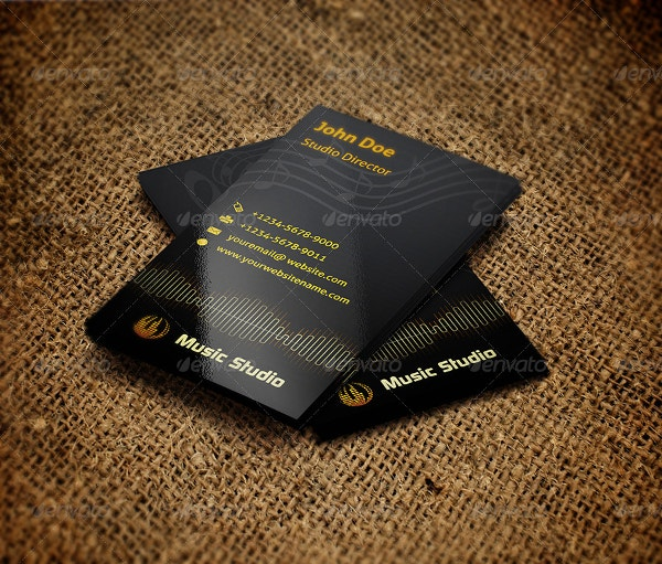 Music Studio Business Card