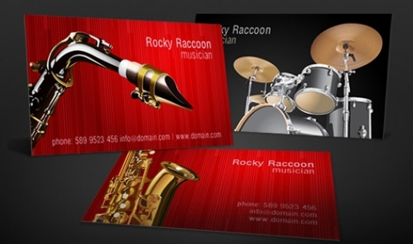 Music Business Cards Free PSD AI Vector EPS Format - Music business card template