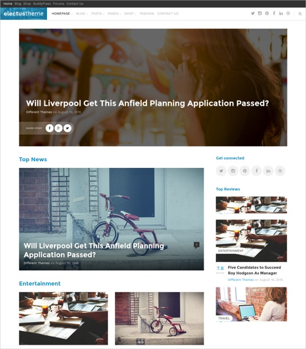 Editorial Blog Magazine Theme $39
