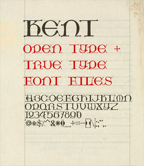 handwritten medieval fonts