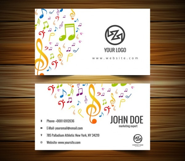 music business card free download