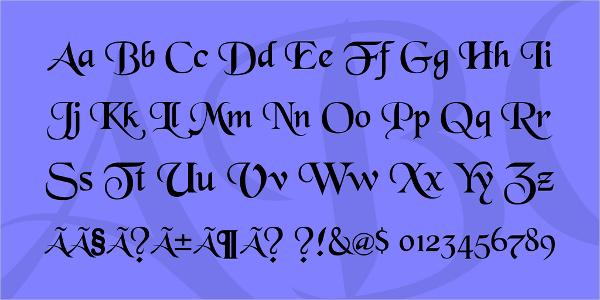 blackchancery medieval font