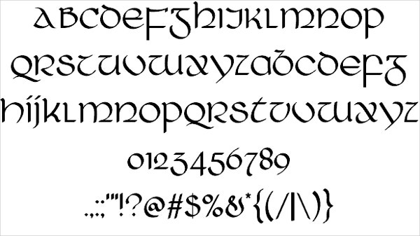 stylish medieval font