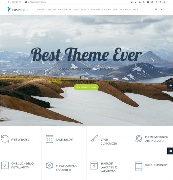 Premium Business Blog WordPress Theme $56