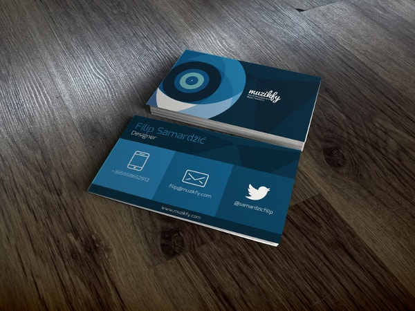 Flat Design Music Business Card