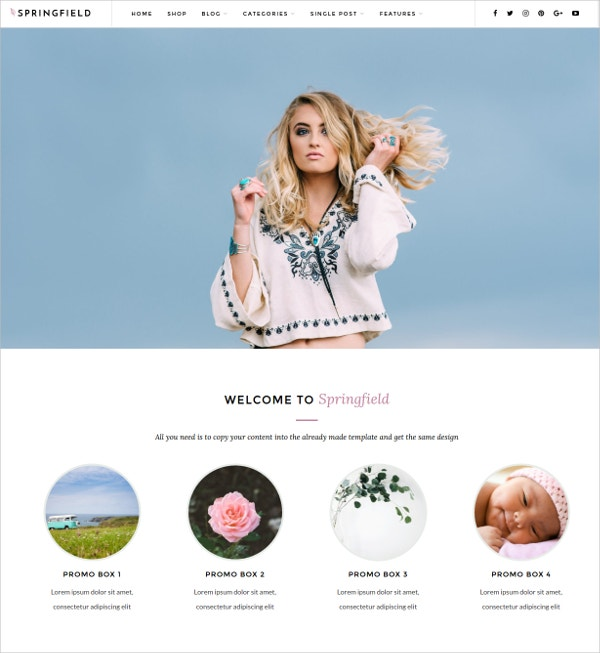 Photography WordPress Blog Theme $49
