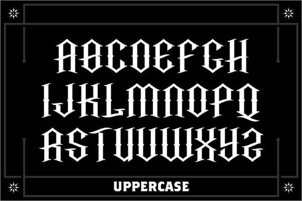 tattoo medieval font