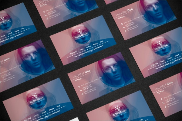 Abstract Music Business Card