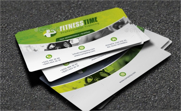 Fitness Business Cards Horetskatk - Fitness business card template