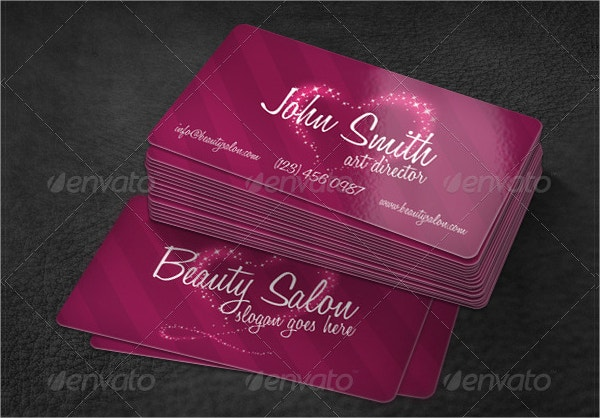 Editable Beauty Saloon Business Card