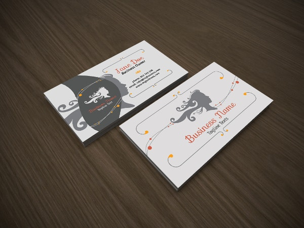 fashion salon business card