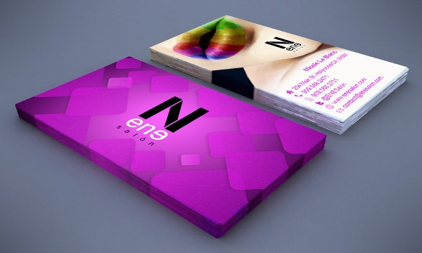 ene salon business card
