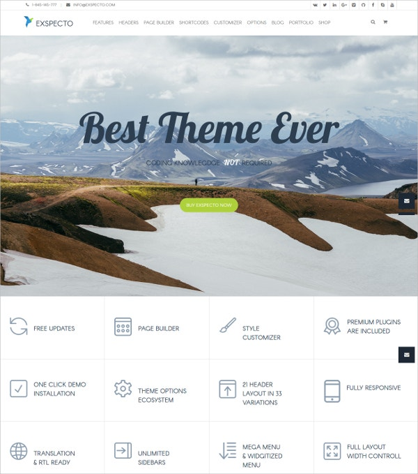 Premium Modern eCommerce WordPress Theme $56