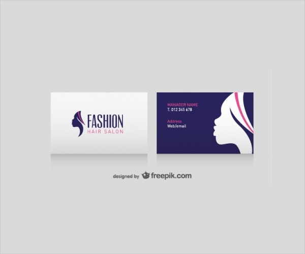 Hair Salon Business Card Free Vector