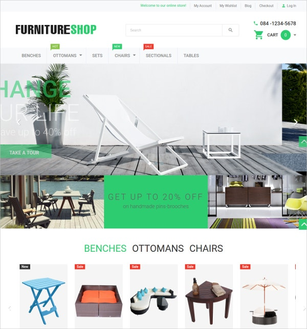 Furniture Magento eCommerce Theme $59