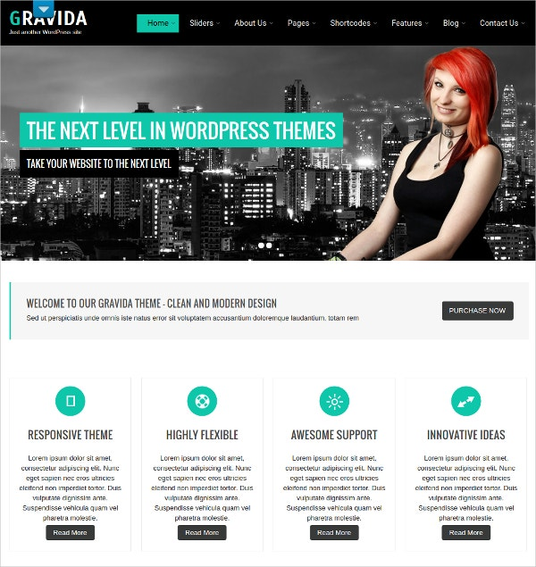 Business eCommerce WordPress Theme $48