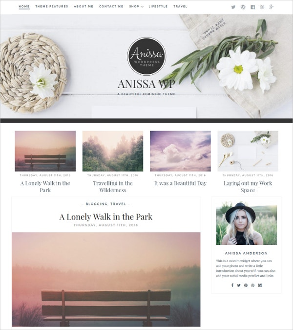 Lifestyle eCommerce Blog Theme $39