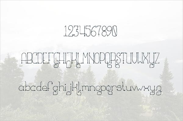 Thin Celtic Font