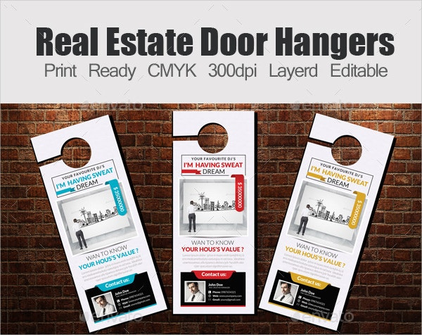 Creative Door Hanger Designs Free Premium Templates - Real estate door hanger templates
