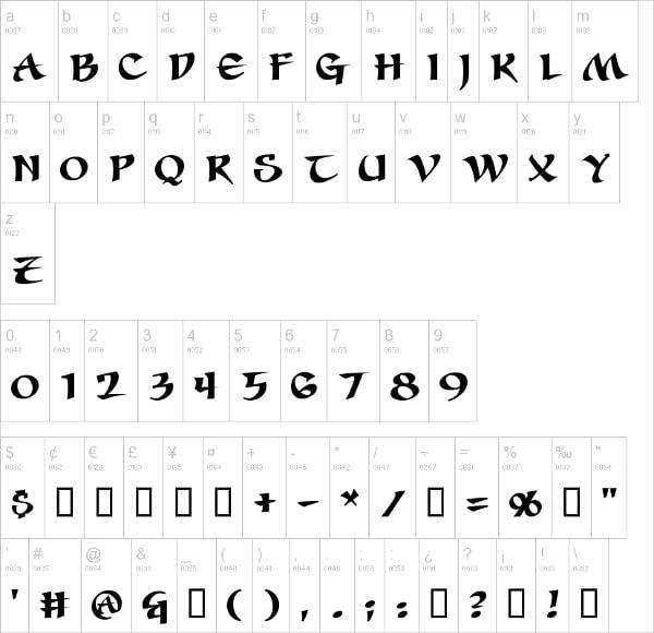 Seven Swordsmen Celtic Font