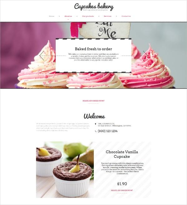 Bakery Moto CMS HTML5 Template $83