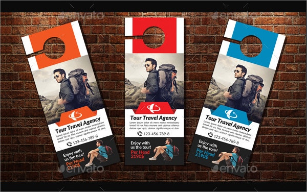 Exceptional Tour Travel Door Hanger Template