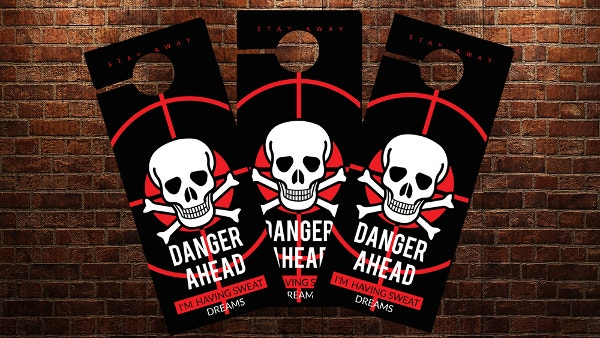 cool door hangers. Danger Ahead Door Hanger Template Cool Hangers