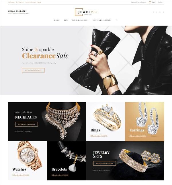 Jewellry Store Magento HTML5 Theme $179