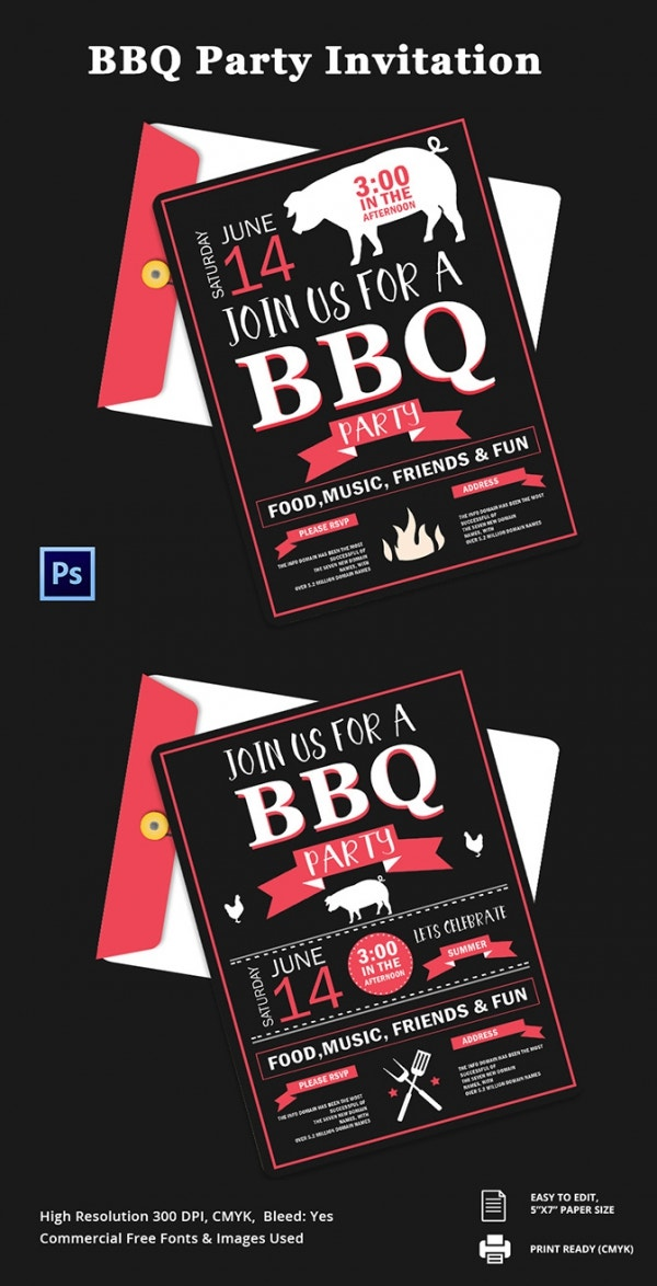 Freebie of The Day - BBQ Party Invitation