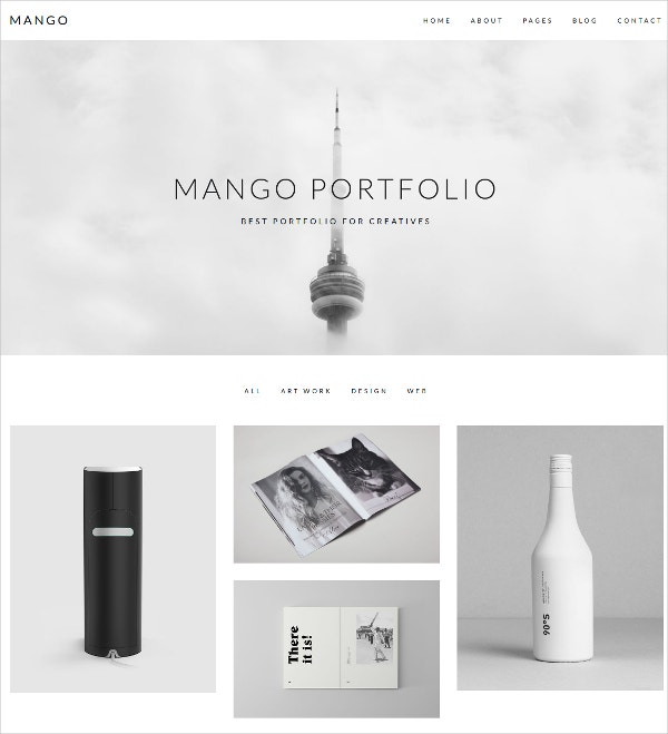 Portfolio for Creatives HTML5 Theme $49