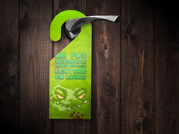 Monster Door Hanger Template & 20+ Creative Door Hanger Designs | Free u0026 Premium Templates