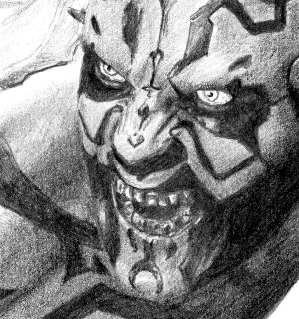 DARTH MAUL Pencil Drawing