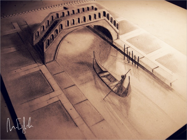 Venice Great Pencil Drawing