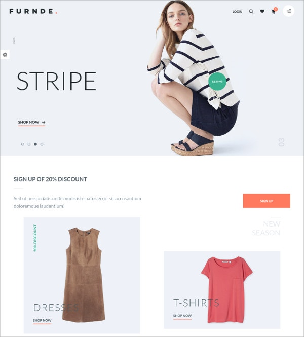 Modal eCommerce WordPress Theme $59