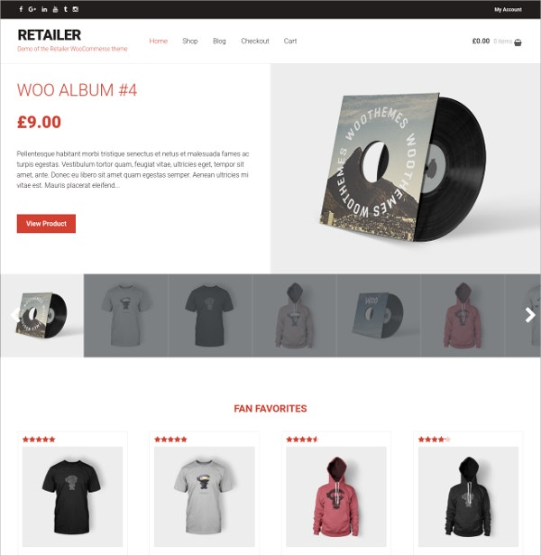 Famous eCommerce WordPress Theme