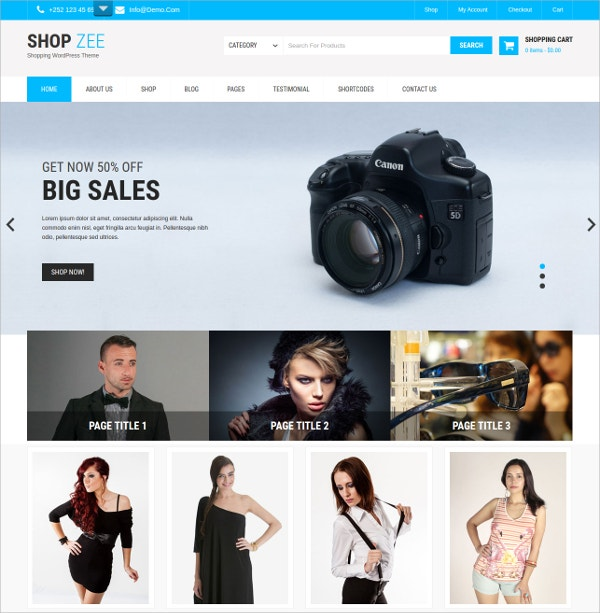 Premium Professional eCommerce WordPress Theme