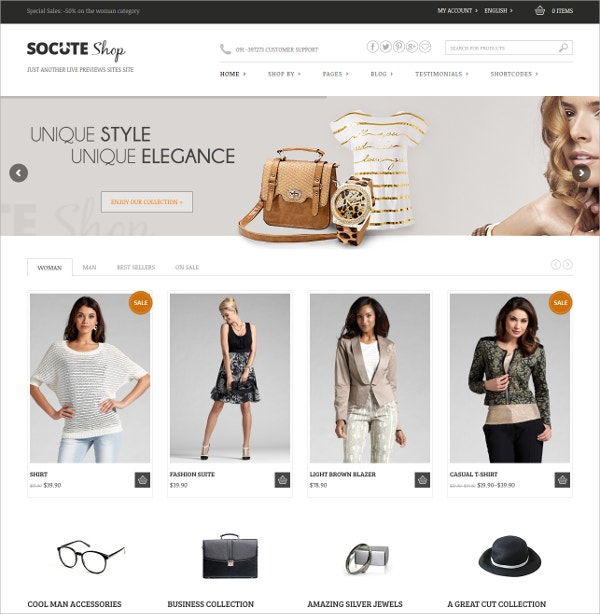 Free Minimal eCommerce WordPress Theme