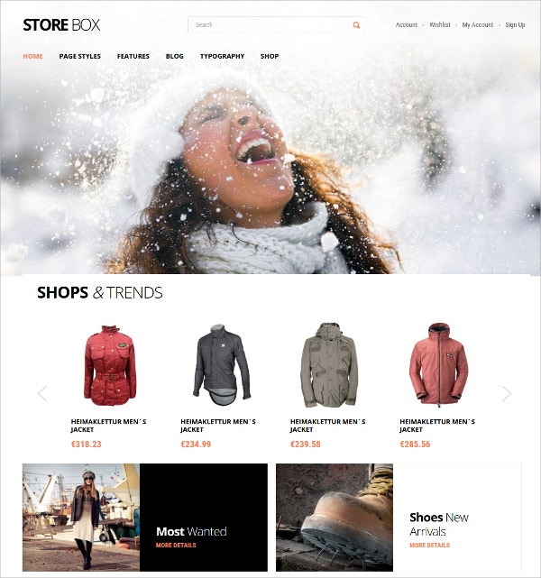 trendy ecommerce wordpress theme