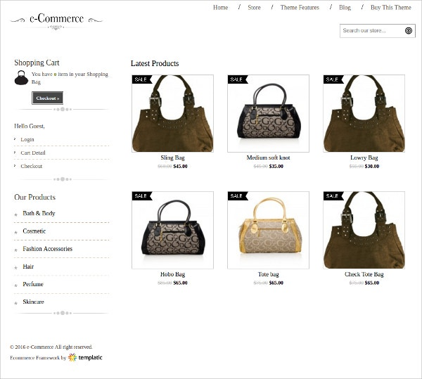 Best eCommerce WordPress Theme For Hand Bags